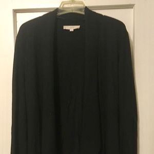 LOFT Black Sweater Cardigan